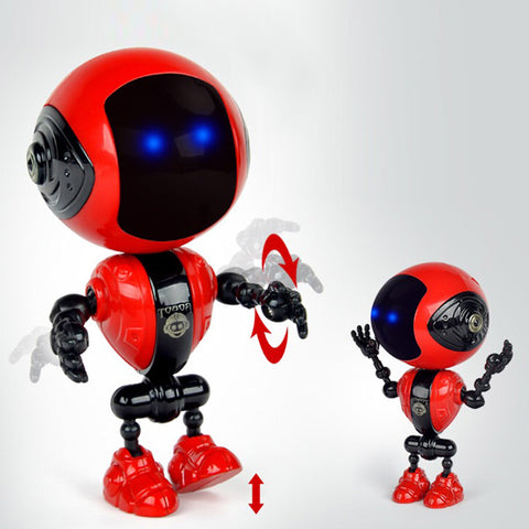 Intelligent alloy robot Q version mini early education vocal