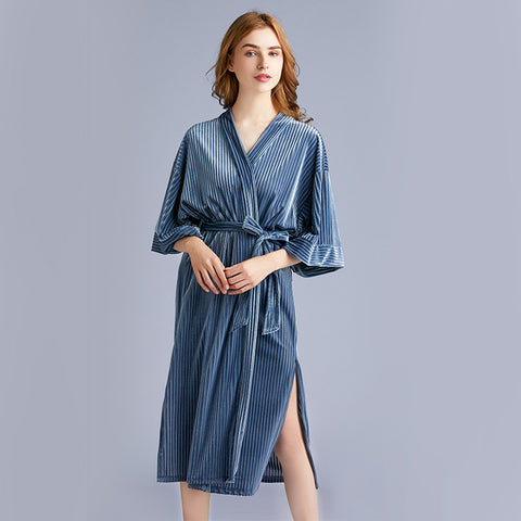 Women's pajamas_explosive Yaoting gold velvet women's