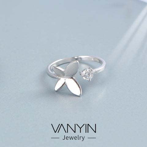 Butterfly ring _ Wanying jewelry butterfly ring s925