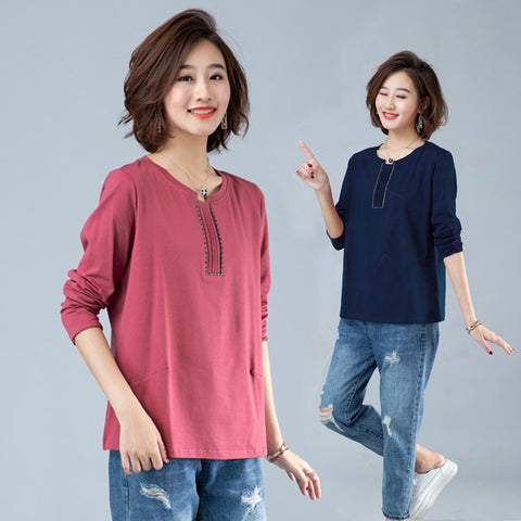 Women's casual tops_2019 Korean middle-aged mother's