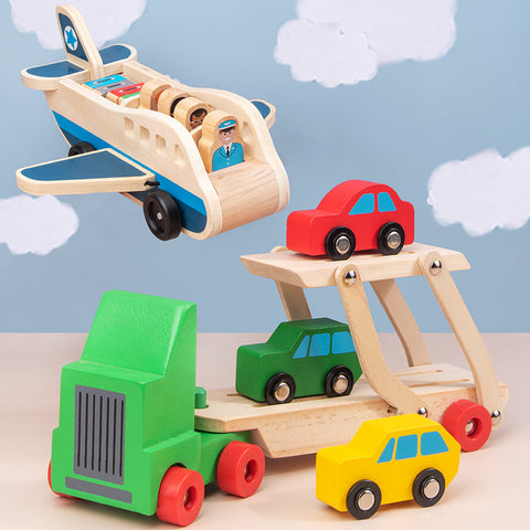 Aviation airplane model _ puzzle transport children drag toy