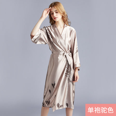 Silk pajamas_Yao Ting silk wedding pajamas ladies spring and