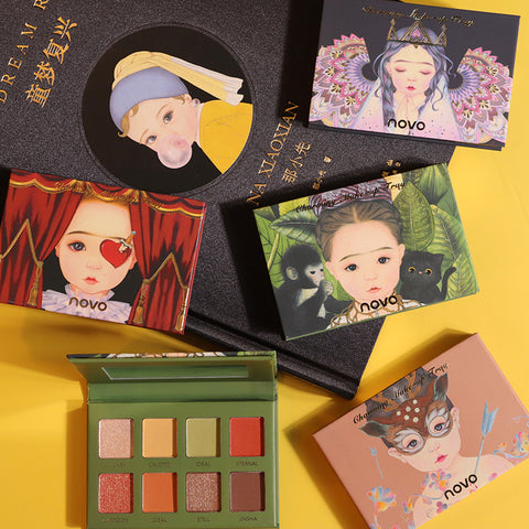 Eight-color eye shadow_elf eight-color eye shadow earth