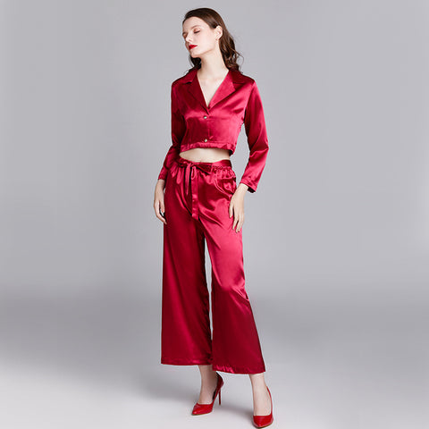 Long-sleeved home service_goods Yaoting pajamas women's