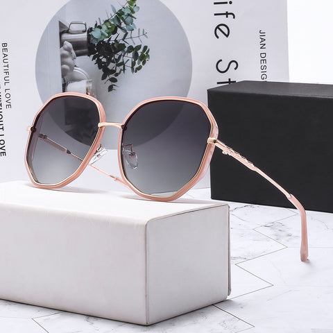 Sunglasses double circle _ polygon polarized sunglasses