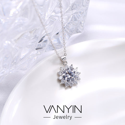 Sterling silver necklace _ Wanying sun pendant s925 sterling