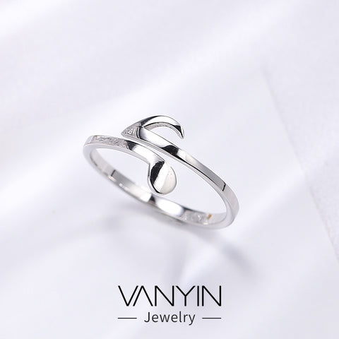 Note ring _ Wanying jewelry factory direct note ring s925