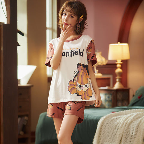 Women's home service _2020 pajamas summer short-sleeved suit
