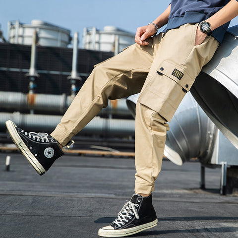 Men's Casual Pants_A Generation of Men's Summer Loose-Tie