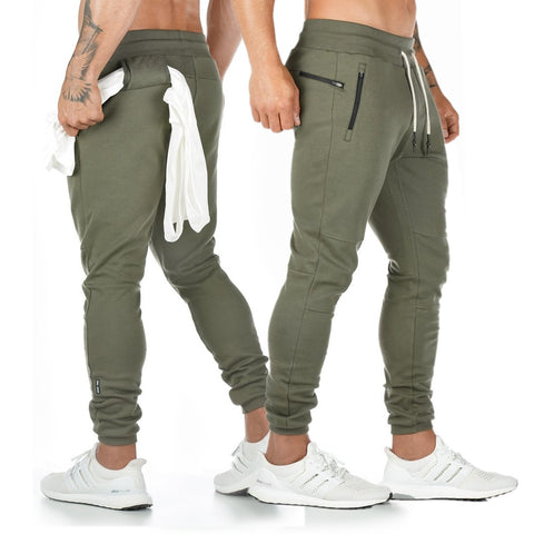 Sports Pants_European Sports Pants Men's Cotton Fitness
