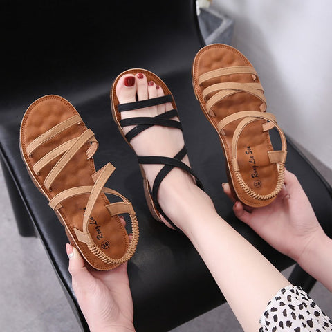 New flat sandals _ flat strap sandals female summer students