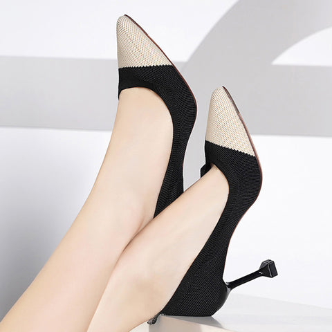 Stiletto shoes _ high-heeled spring new style pointed toe