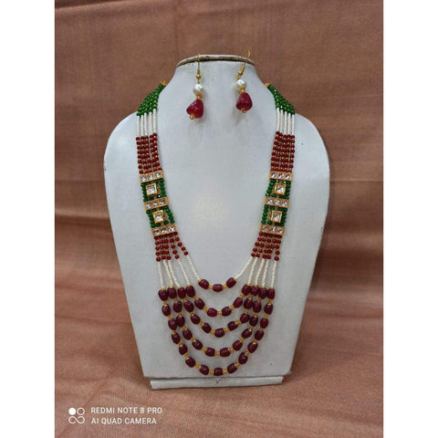 Muktinath Ethnic Beads Necklace Set For Women 014