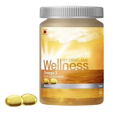 ORIFLAME Wellness Omega 3 Food Supplements, 60 Capsules