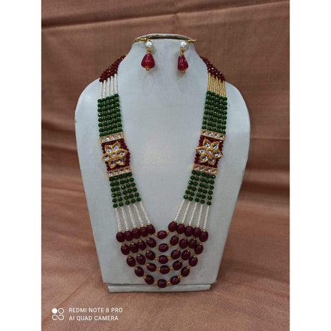 Muktinath Ethnic Beads Necklace Set For Women 016