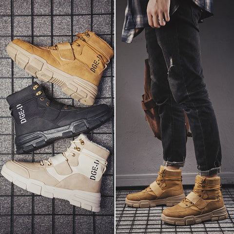 Autumn and winter men's high-top sports shoes men's Korean
