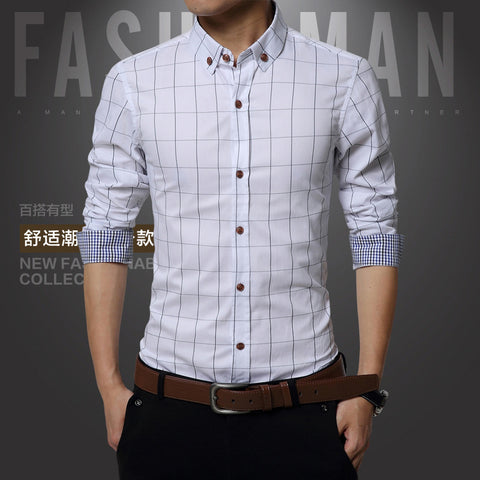 Men's Long Sleeve Shirt_New Fall Men's Long Sleeve Shirt