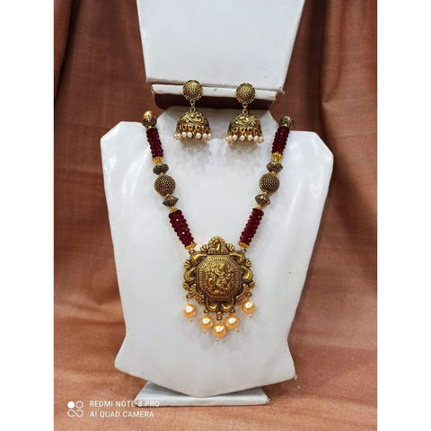 Muktinath Ethnic Beads Necklace Set For Women 02