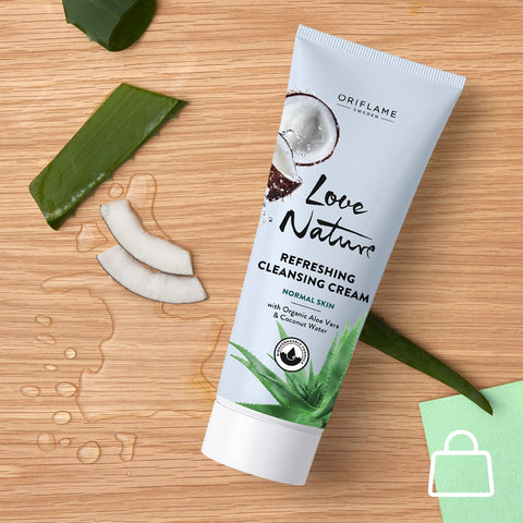 ORIFLAME Love Nature Refreshing Cleansing Cream With Organic