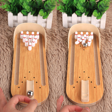 Game bowls_table bowling game wooden parent-child children's