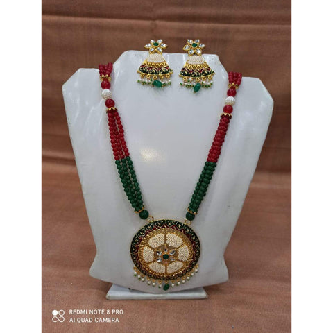 Muktinath Ethnic Beads Necklace Set For Women 04