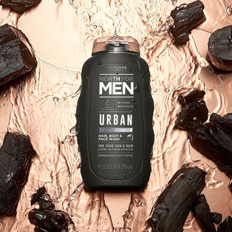 ORIFLAME North For Men Urban Hair, Body & Face Wash, 250Ml.