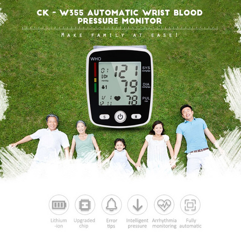 Cuff Wrist USB Charging Blood Pressure Digital Monitor