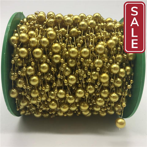 SALE- 5yards Fishing Line Artificial Pearls Beads Chain