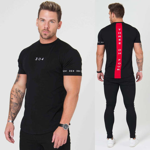 Training fitness t-shirt_short sleeve men's cotton running