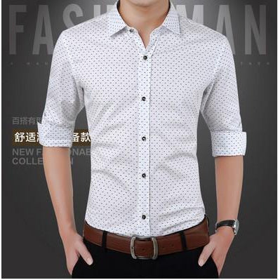 Long-sleeved shirt_2018 new men's long-sleeved shirt men's