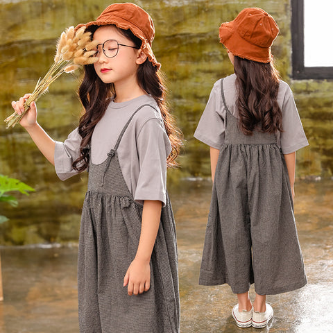 Children's suit _ girls' bib pants 2019 new Korean spring
