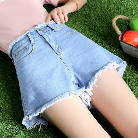 Women's Jeans-2018 Summer Fashion Korean Slim Thin Waist