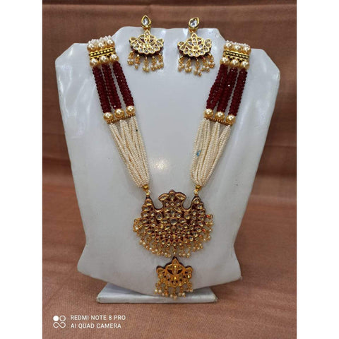 Muktinath Ethnic Beads Necklace Set For Women 08