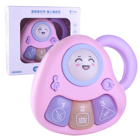 Cartoon baby electronic piano children's toys three-button