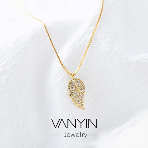 Leaves necklace _ Wanying jewelry factory direct sales