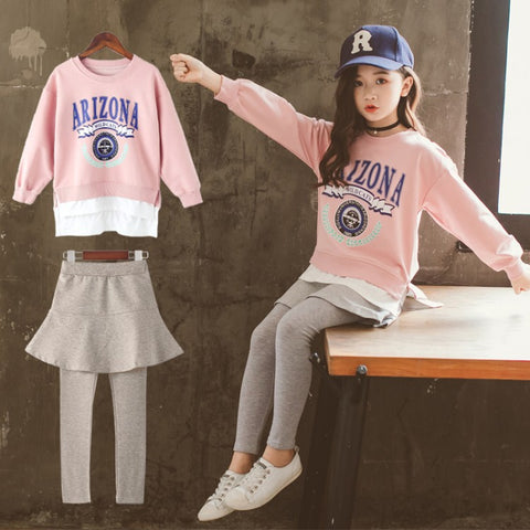 Kids Set_Kids 2018 New Korean Girls Sports Korean Korean Big