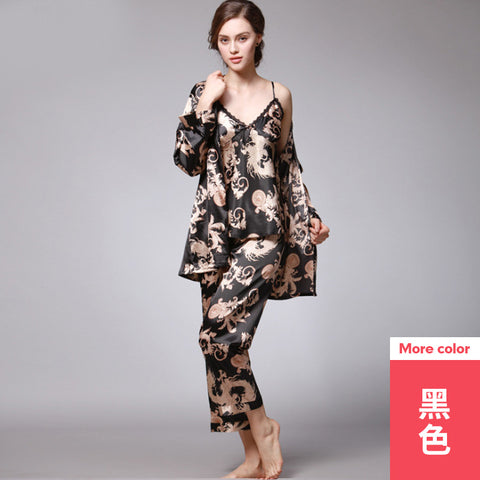 Three-piece suit _ explosion-proof silk ladies spring and