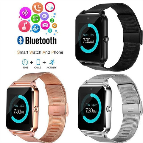 Smart watch_z60 steel belt smart z60 smart watch Bluetooth