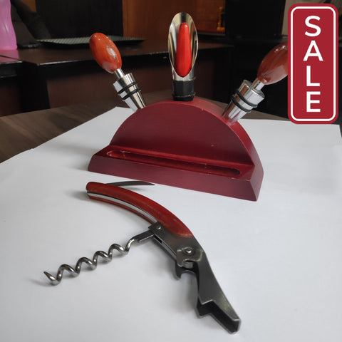 SALE- Wine Bottle Cork Opener Stopper Pourer Cutter Set