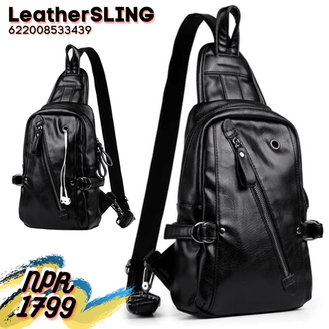 Men's High Quality Leather Sling Bags Chest Shoulder Bag