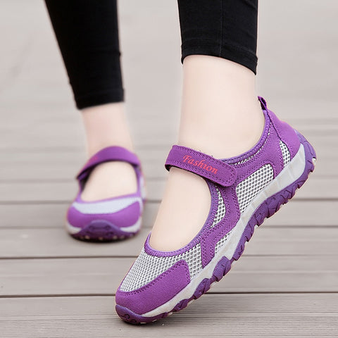 Summer Women Sneakers Breathable Mesh Trainers Shoes