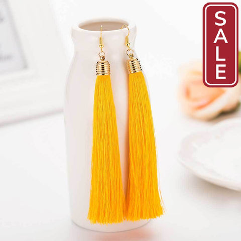New Hot Tassel Drop Earrings-Women's Accessories on Sale-tudoholic.com
