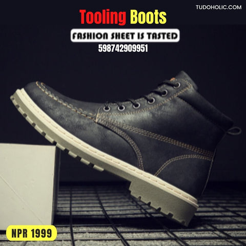 High Top Martin Tooling Boots For Men