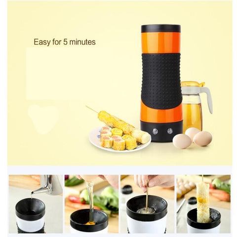 EU Plug 220V Automatic Rising Egg Roll Maker Cooking Tool