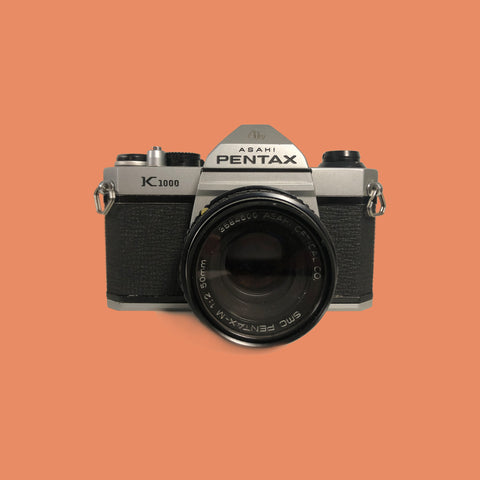 Pentax K1000 with 50mm lens f/2