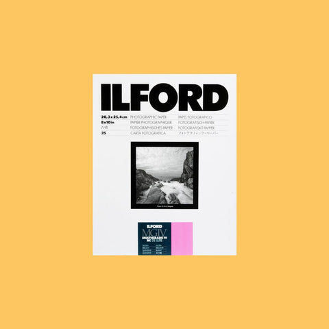 "Ilford MGIV RC Multigrade Glossy 8""x10"" (20.3cmx25.4cm) 25 Sheets"