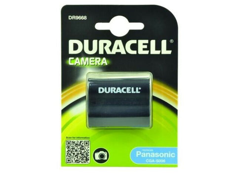 Duracell DR9668 Replacement Battery For Panasonic CGA-S006