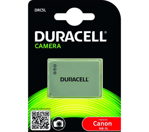 Duracell DRC5L Replacement Camera Battery For Canon NB-5L