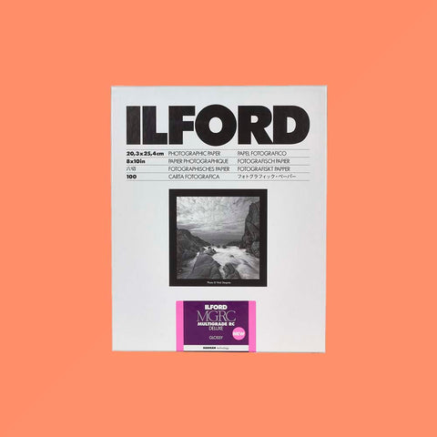 Ilford Multigrade RC 8x10 Glossy 100 Sheets