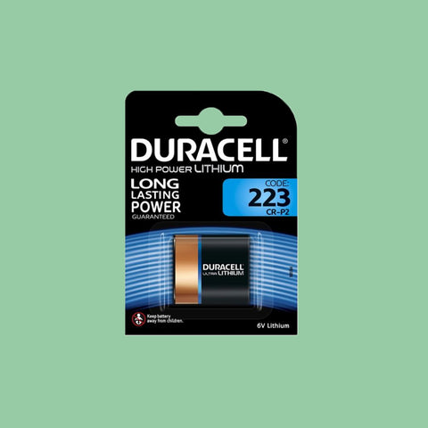 Duracell 223 CR-P2 6V Lithium Battery